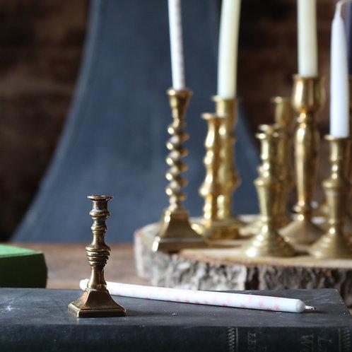 Miniature Vintage Brass Candlestick