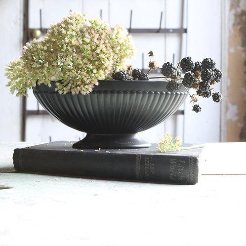 Wedgewood Ravenstone Black Urn Vase Planter