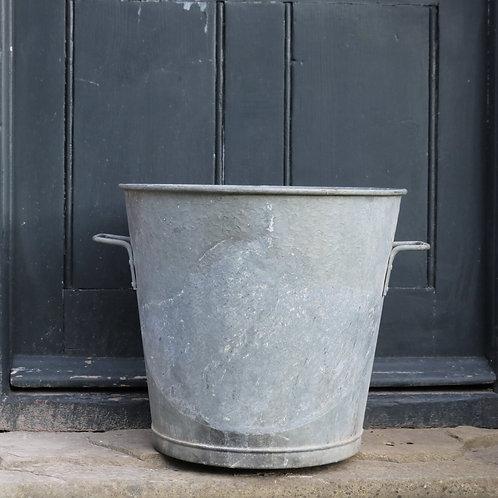 Vintage Large Galvanised Zinc Planter Tub