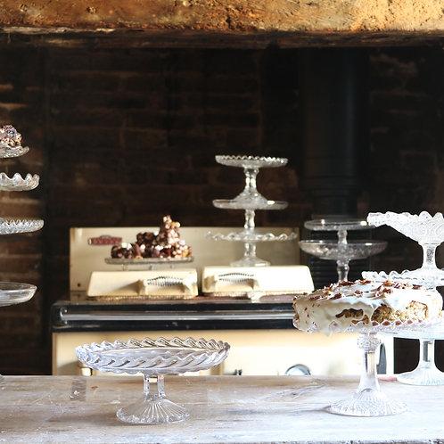 Glass Cake Stand 210mm