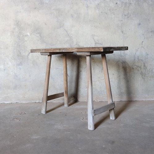Simple Primitive Vintage Rustic Side Table