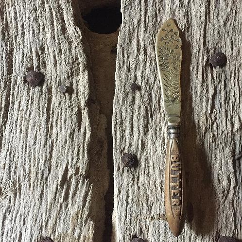 Antique Carved Butter Knife