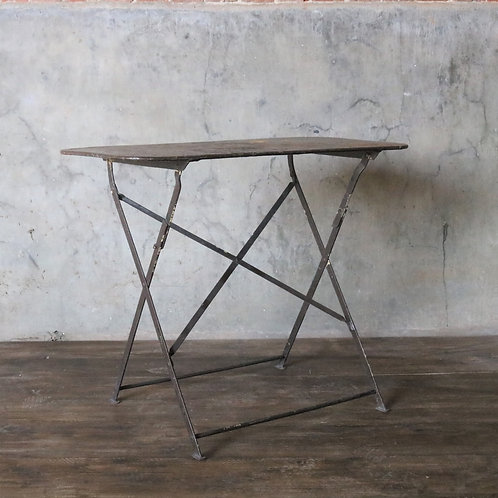 French Vintage Metal Folding Table
