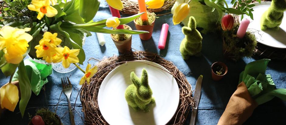 Easter Tablescape; Mr McGregor's Garden