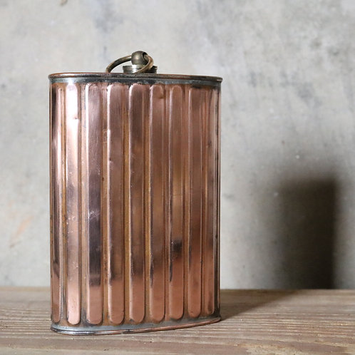Flask Ribbed Copper