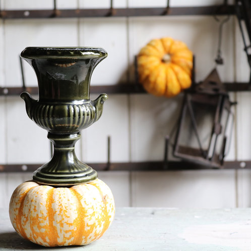 Small Green Vintage Urn Vase by Dartmouth Pottery