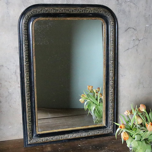 Antique French Ebonised Louis Philippe Mirror