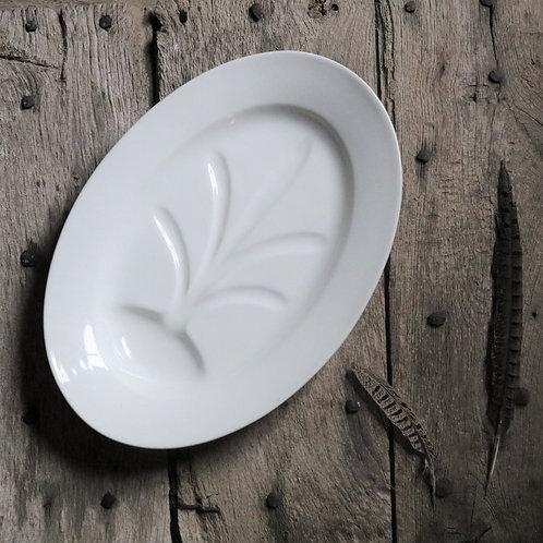 Antique White Ironstone Meat Platter
