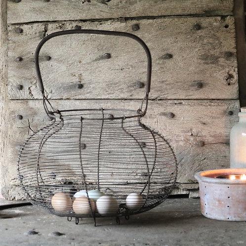 Huge French Wirework Egg Basket