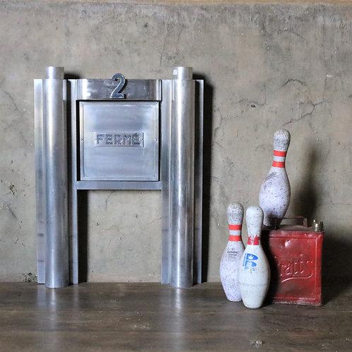Original 1950's Aluminium Post Office Serving Hatch
