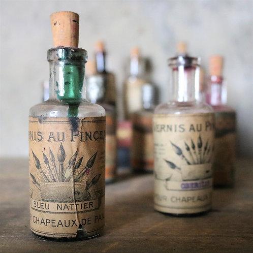 Old Vintage Painter's Bottles - set of 3