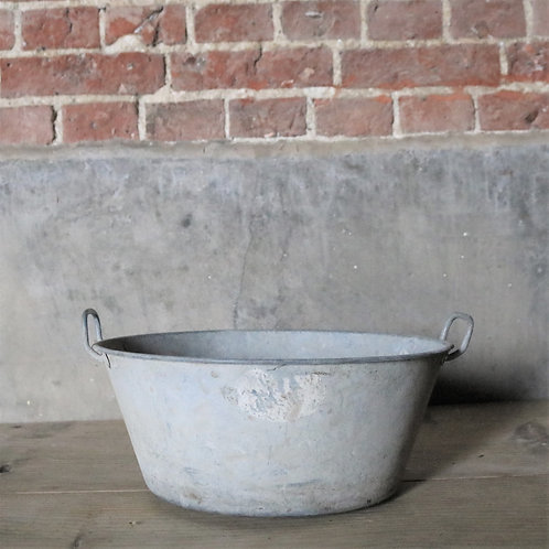 Galvanised Pan Planter