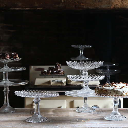 Glass Cake Stand B210mm