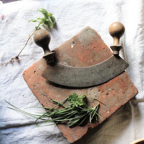 Rustic Kitchen Herb Chopper Mezzaluna