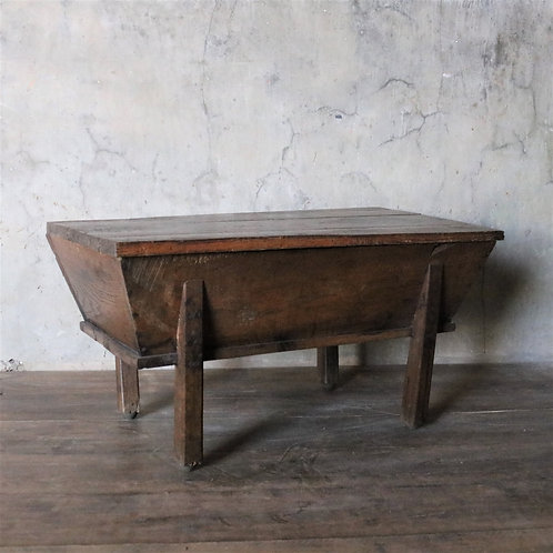 Rustic Solid Oak Dough Table Coffee Table
