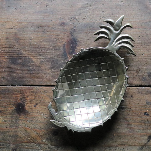 Mid Century Brass Pineapple Dish