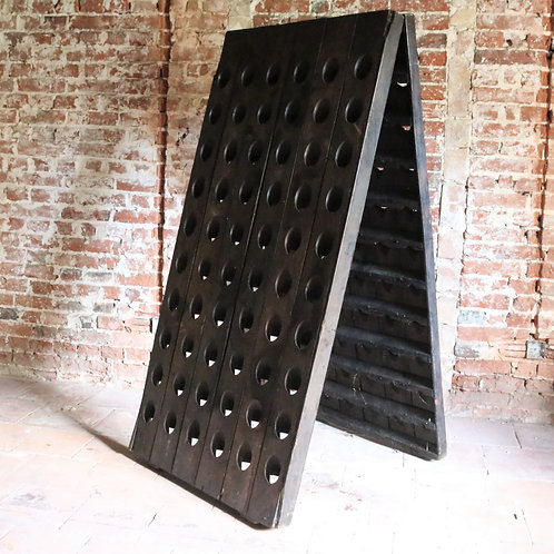 Antique French Champage Wine Riddling Rack Stand 120 Bottles