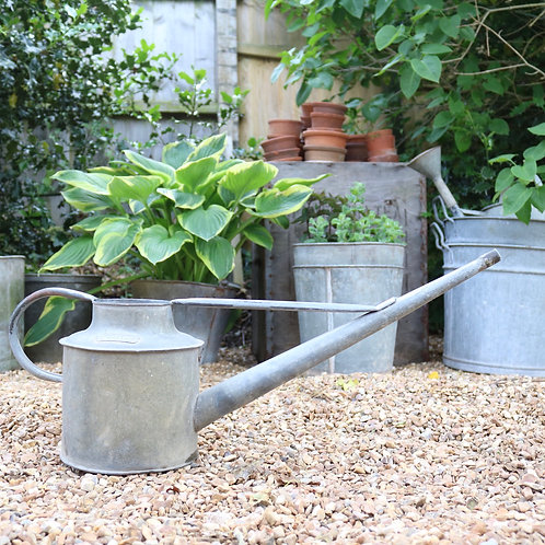 Galvanised Zinc Long Reach Watering Can 1 Gallon