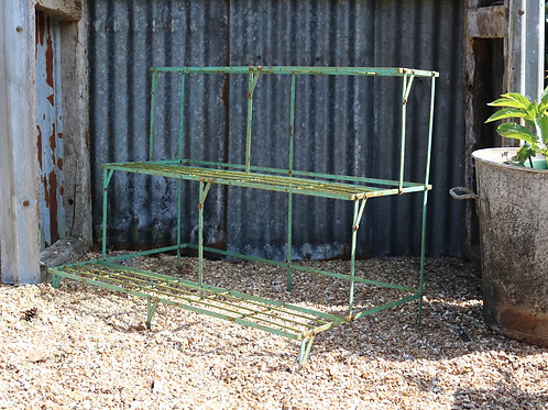 Vintage Folding Auricula Theatre Plant Pot Stand Green