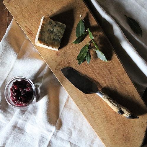 INOX French Vintage Taxidermy Deer Hoof Hard Cheese Knife