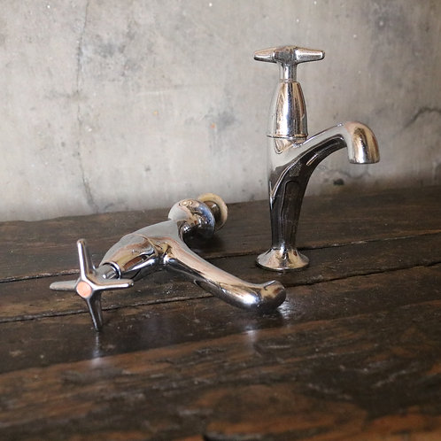 Vintage Chrome Kitchen Taps
