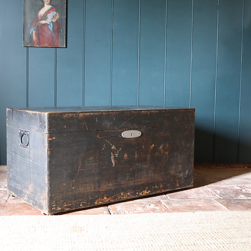 Large Black vintage trunk chest