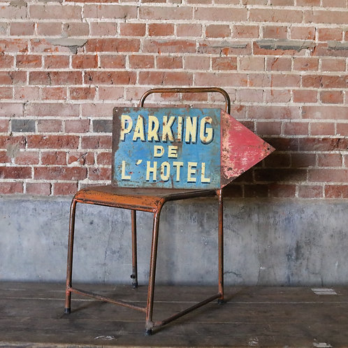 Hand Painted French Vintage Sign