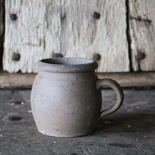 Small French Vintage Stoneware Grès Pot