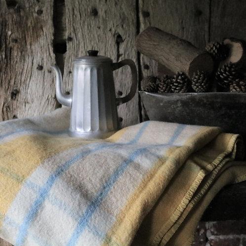 Large Heavy Pure Wool Vintage Blanket