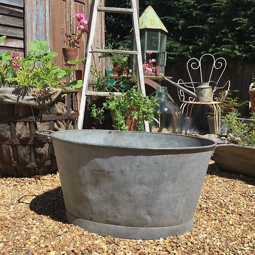 Galvanised Zinc Planter Bath Large