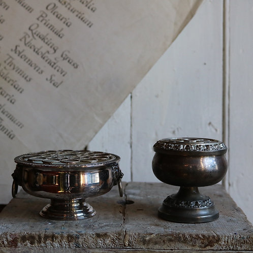Silver Plate Rose Bowls