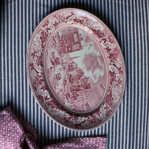 Barnum's Museum Historic America Vintage Oval Platter