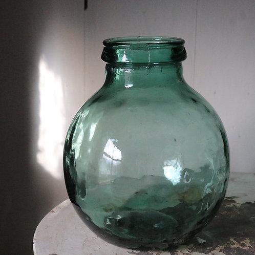 Green Vintage Carboy Jar