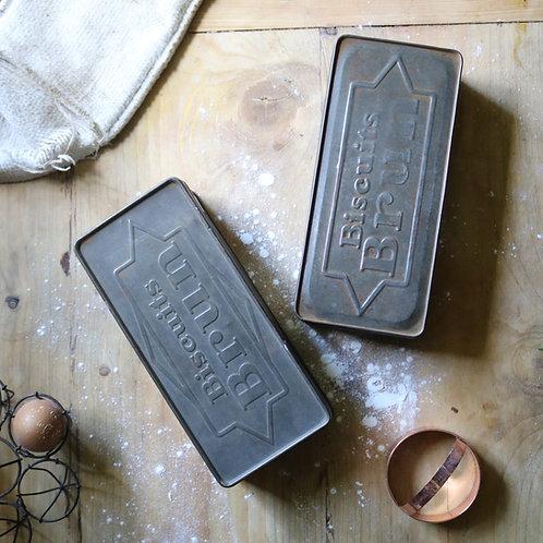 Biscuits Brun Vintage Tins