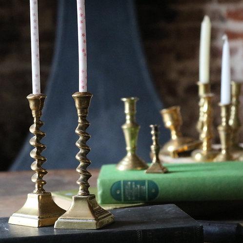 Small Vintage Barleytwist Candle Holders