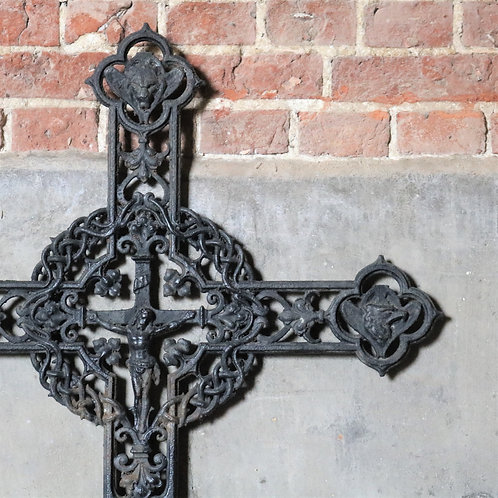 Large Black Iron Decorative Cross