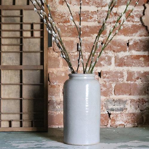 Tall Vintage Stoneware Jar