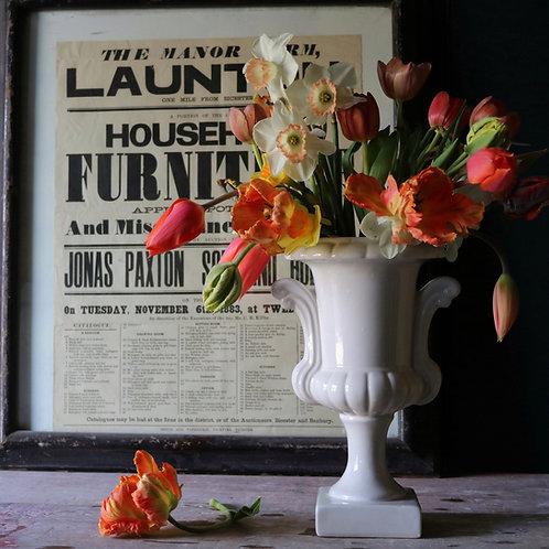 Classic White Urn Vase Large