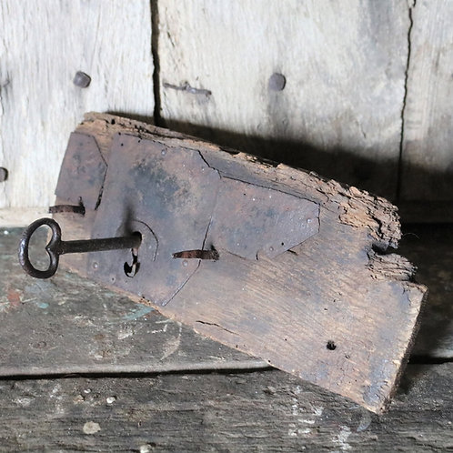 Antique Rustic Door Lock Original Key
