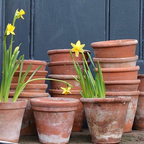 """Vintage Hand Thrown Terracotta Garden Plant Pots 5"""""""