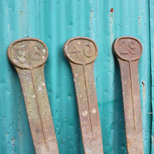 Victorian Cast Iron Markers