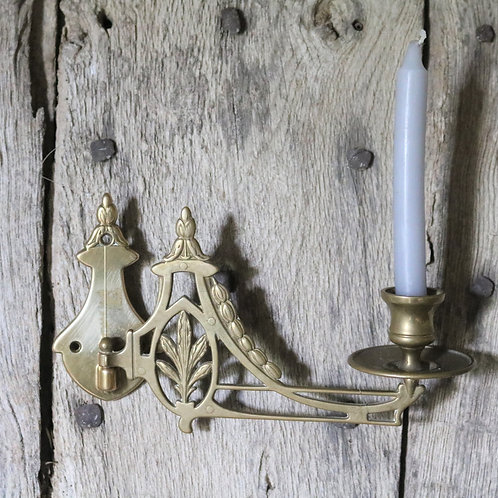 Solid Brass Candle Wall Sconce