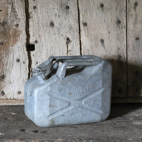 French 10LVintage Galvanised Jerry Can