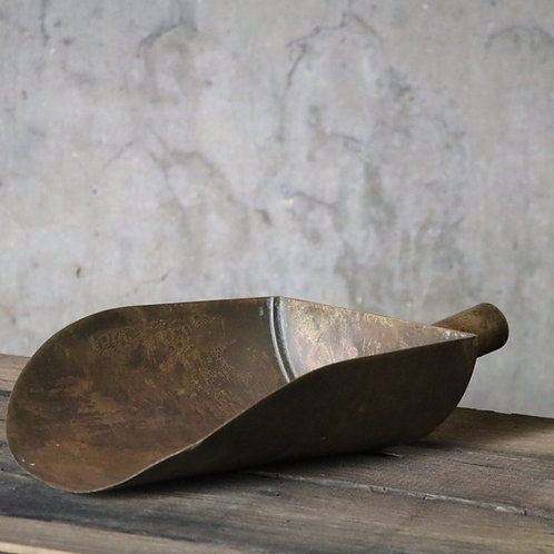 Antique Brass and Copper Grain Scoop