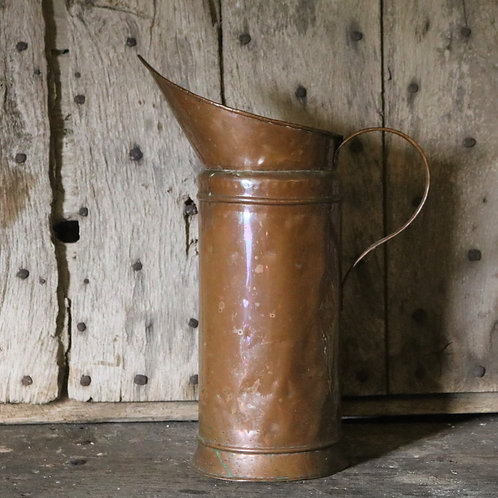 Extra  Extra Large French Vintage Copper Pitcher Jug