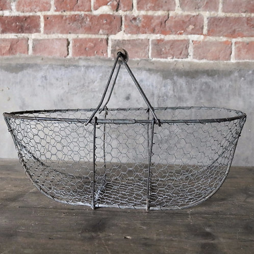 Large French Vintage Wirework  Basket
