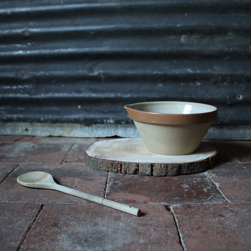 Small French Vintage Dairy Bowl