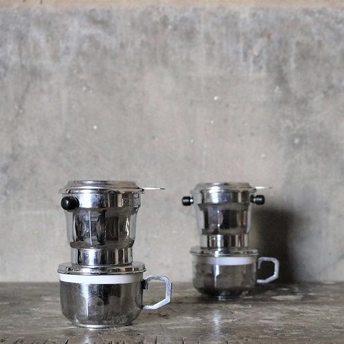 1950's Individual Chrome Coffee Filter Cups