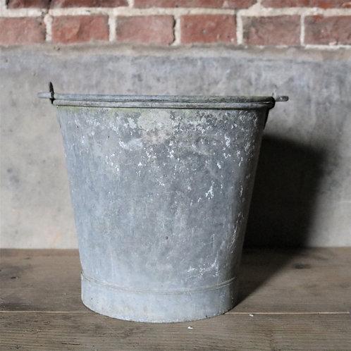 Vintage Galvanised Bucket Planter