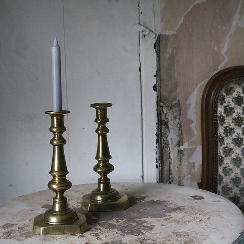 Pair Vintage Brass Candlestick